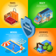 Isometric Travel Insurance Service Concept - GraphicRiver Item for Sale