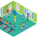 Isometric Fitness Club Concept - GraphicRiver Item for Sale