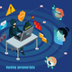 Isometric Biometric Hacking Protection System Concept - GraphicRiver Item for Sale