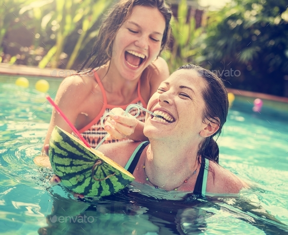 Mother and daughter having fun - Stock Photo - Images