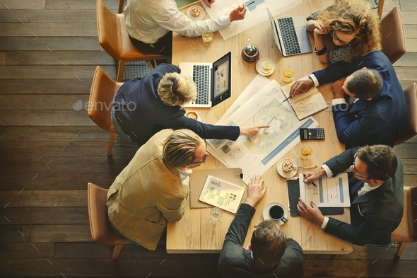 Architecture team are having a discussion - Stock Photo - Images