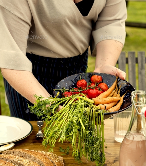 Woman Preparing Table Dinner Concept - Stock Photo - Images