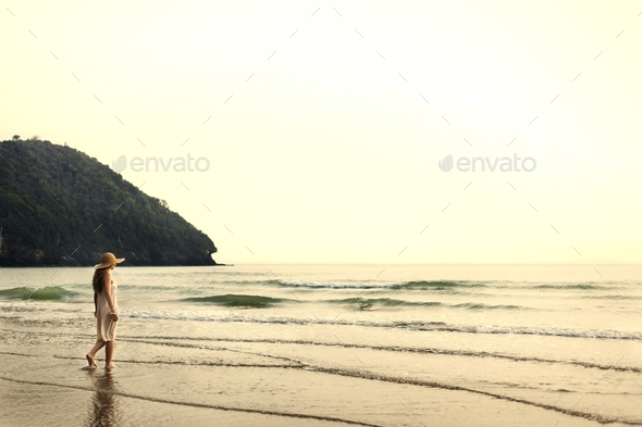 Chill Peace Summer Coast Vacation Journey Calm Concept - Stock Photo - Images