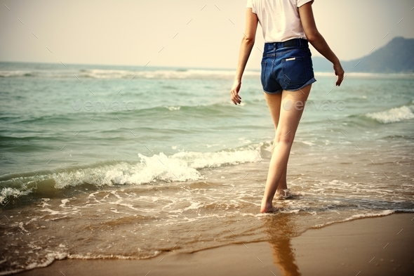 Woman Travel Tropical Beach Concept - Stock Photo - Images