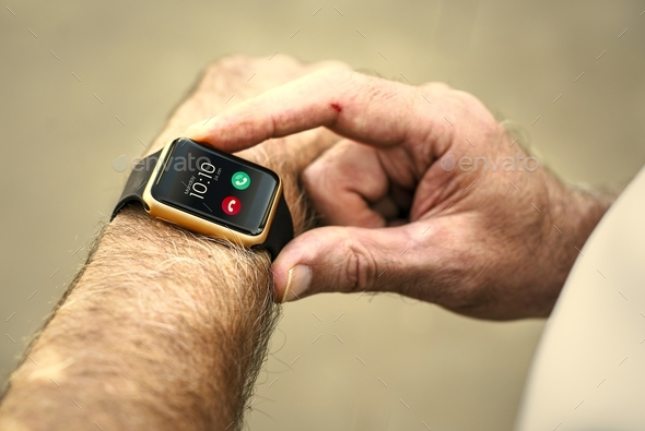 Closeup of smartwatch - Stock Photo - Images