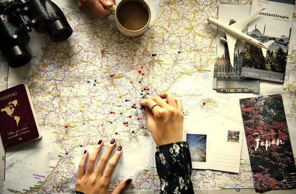 Planning a trip - Stock Photo - Images