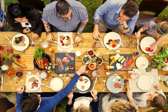 Group Of People Dining Concept - Stock Photo - Images