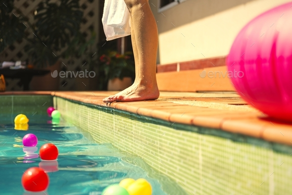 Girl enjoying summertime vacation - Stock Photo - Images