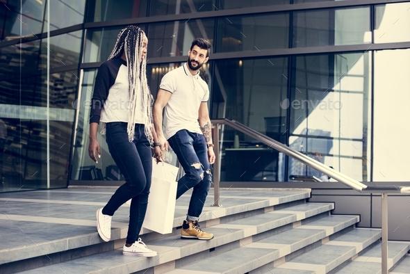 People enjoy shopping - Stock Photo - Images