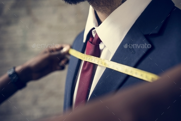 Classy man in the tailor shop - Stock Photo - Images
