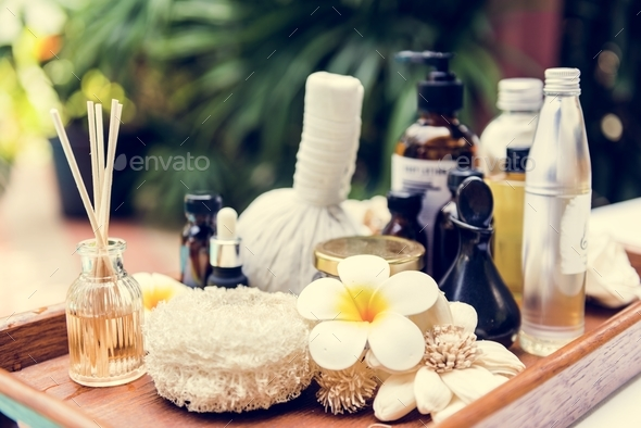 Spa products massage and body care - Stock Photo - Images