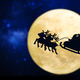 Christmas silhouette over a full moon - PhotoDune Item for Sale