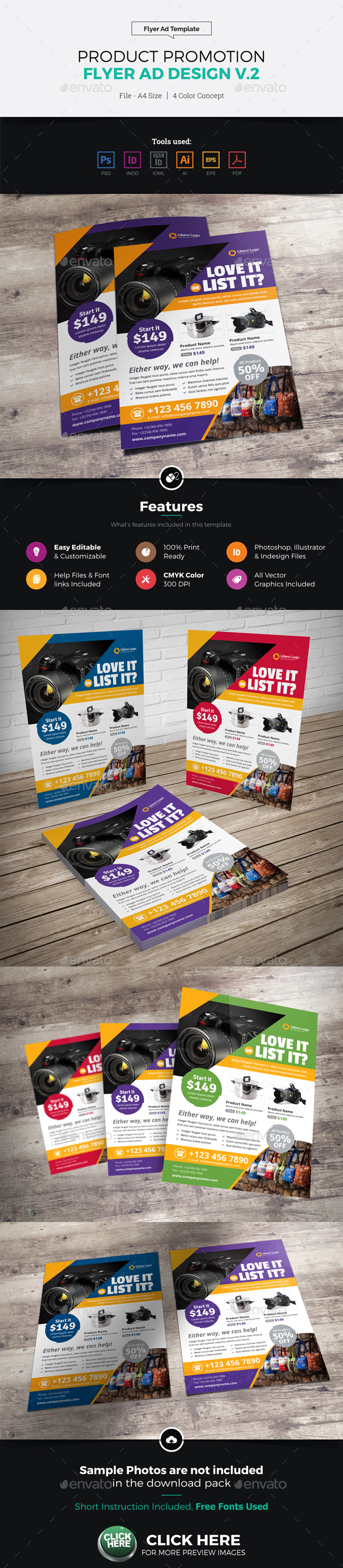 Product Sale Promotion Flyer Ad Design v2 - Commerce Flyers