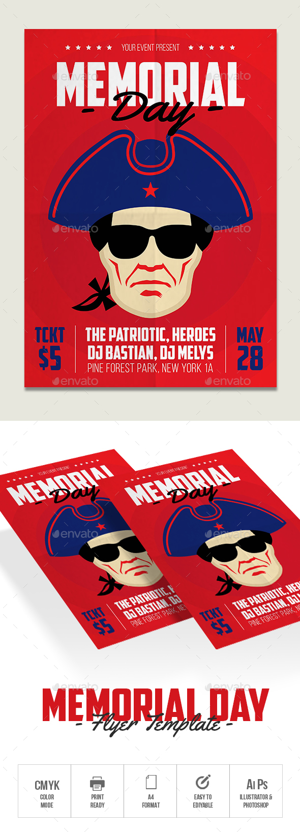Memorial Day - Flyers Print Templates