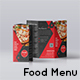 Trifold Brochure Food Menu