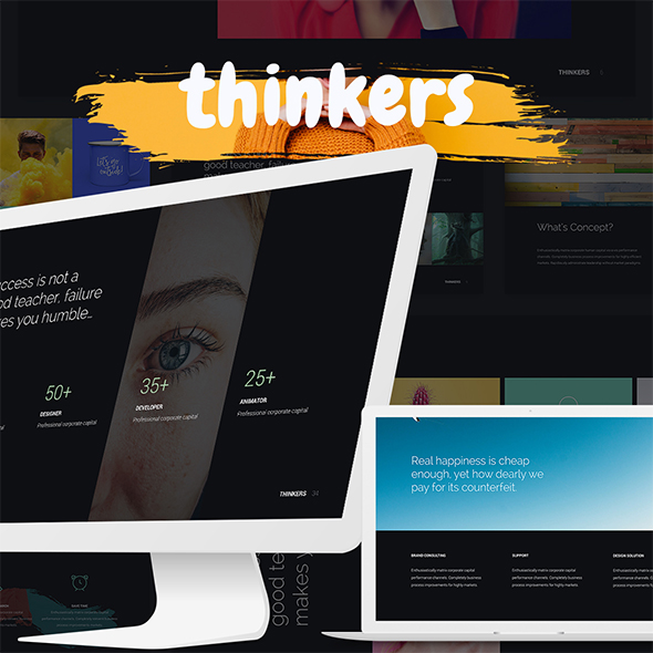 Thinkers - Creative & Multipurpose Template (Keynote) - Creative Keynote Templates