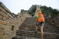 Hiking on Chinese great wall