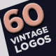 60 Vintage Badges, Logos & Labels