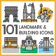 Landmark Icons - GraphicRiver Item for Sale