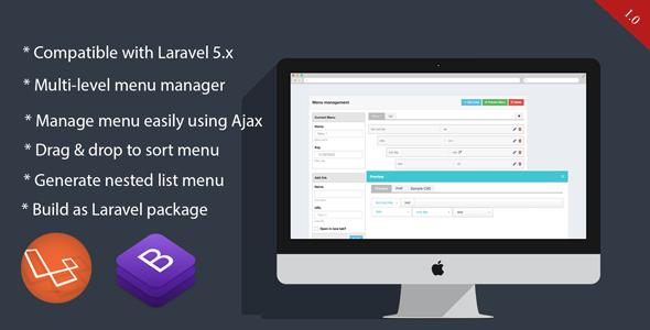 RvMenu - Simple Laravel menu manager            Nulled
