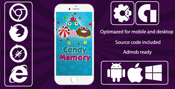Candy Memory Game + Admob - CodeCanyon Item for Sale