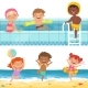 Summer Water Games in Aquapark - GraphicRiver Item for Sale