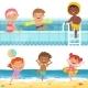 Summer Water Games in Aquapark