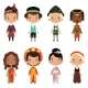 Happy Kids of Various Nationalities