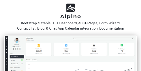 Image of Alpino - Bootstrap 4 Admin Dashboard Template