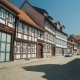 Picturesque Street of a Small Town in Germany. Traditional Style of Construction. Verniigorodee - a
