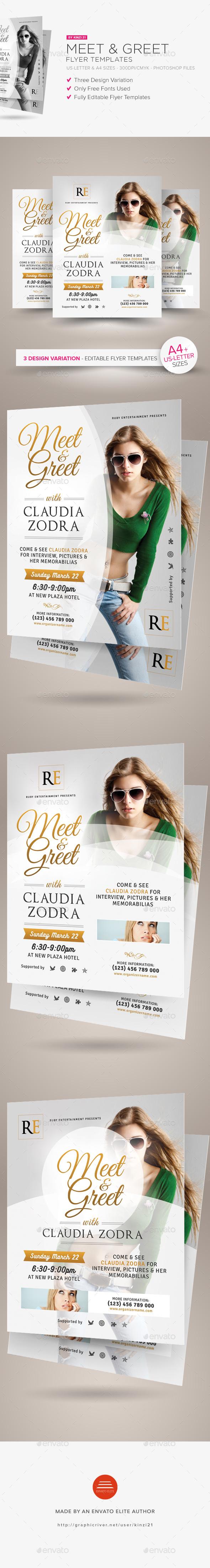 Meet & Greet Flyer Templates - Miscellaneous Events