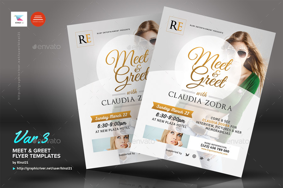 Meet & Greet Flyer Templates by kinzi21 | GraphicRiver