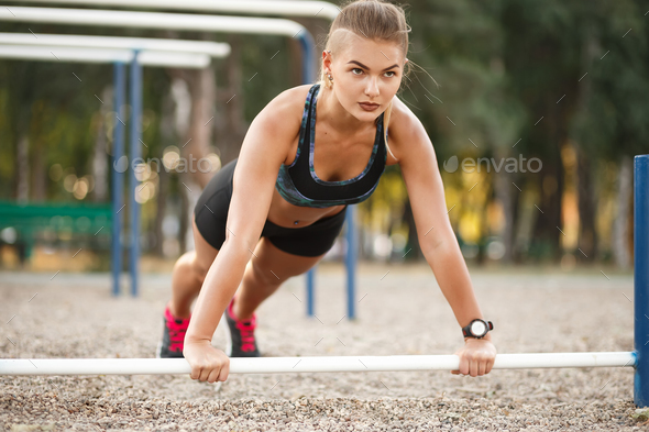 Outdoor Workout Exercise - Stock Photo - Images