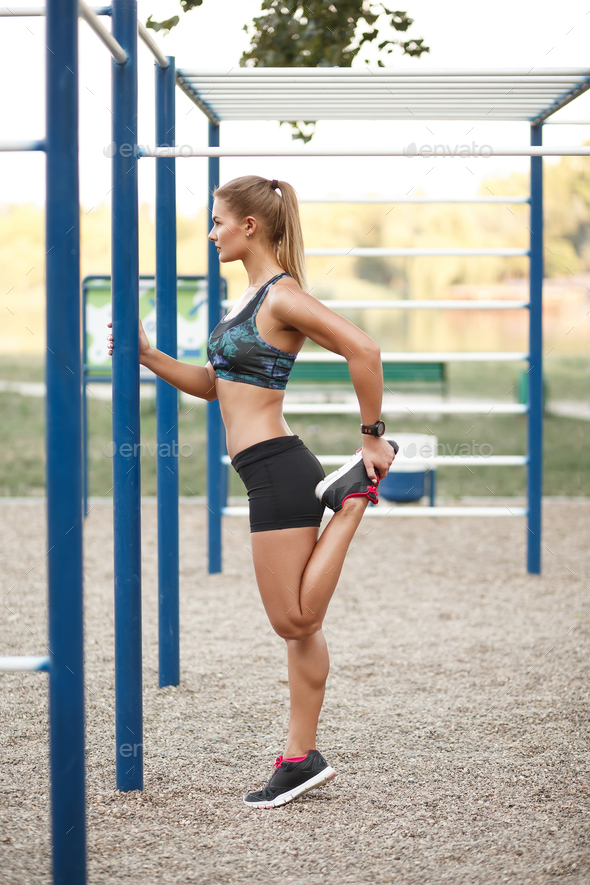 Women outdoor workout - Stock Photo - Images
