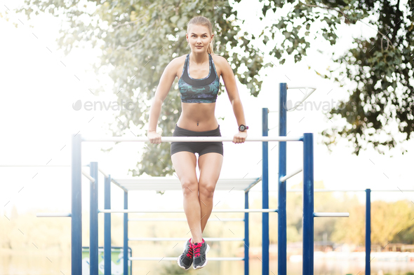 Pulling up workout - Stock Photo - Images