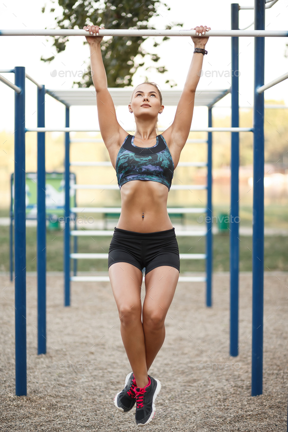Woman on outdoor workout - Stock Photo - Images