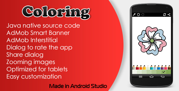 Coloring with AdMob - CodeCanyon Item for Sale