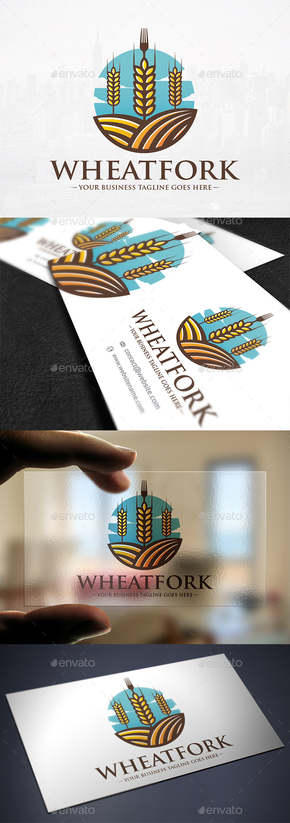 Wheat Food Land Logo - Nature Logo Templates