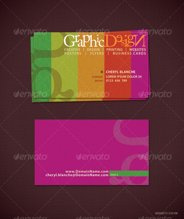 Colorfull Business Card #1 - Creative Business Cards