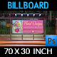 Floral Designs Billboard Template - GraphicRiver Item for Sale
