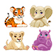 Baby Jungle Animals - GraphicRiver Item for Sale