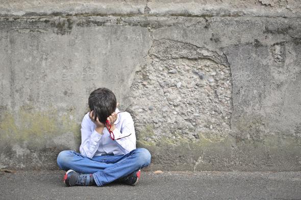 Desperate child - Stock Photo - Images