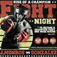 Fight Night Flyer Template V4 - GraphicRiver Item for Sale