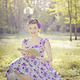 Girl reading in a park - PhotoDune Item for Sale