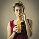Girl drinking a juice - PhotoDune Item for Sale