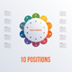 Template flower colorful infographics 10 positions - GraphicRiver Item for Sale
