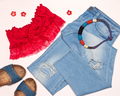 Fashion summer outfit for walk around the city - PhotoDune Item for Sale