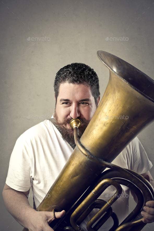 Musician man - Stock Photo - Images