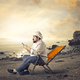 Chef with a smartphone at the beach - PhotoDune Item for Sale