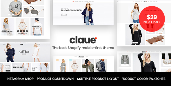 Claue - Mobile-First Shopify theme - Shopify eCommerce